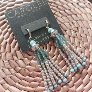 🆕️ Carolee Turquoise & Crystals Earrings